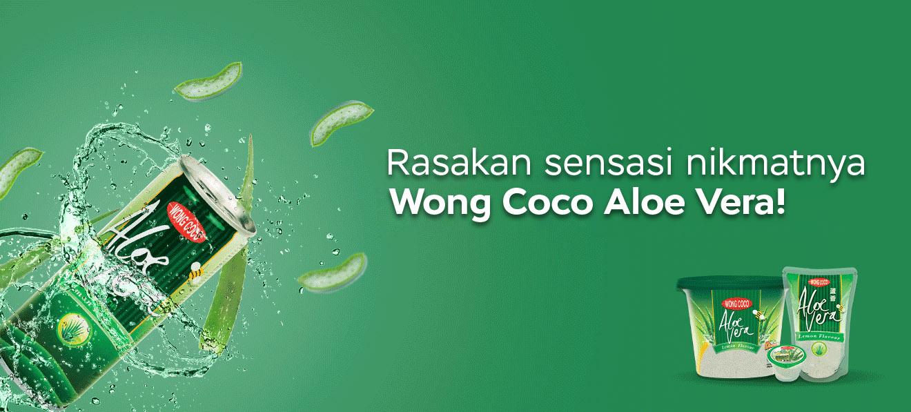 Rasakan sensasi nikmatnya Wong Coco Aloe Vera!