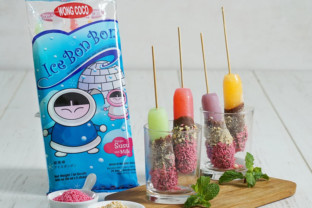 Wong Coco Ice Bon Bon Celup Cokelat