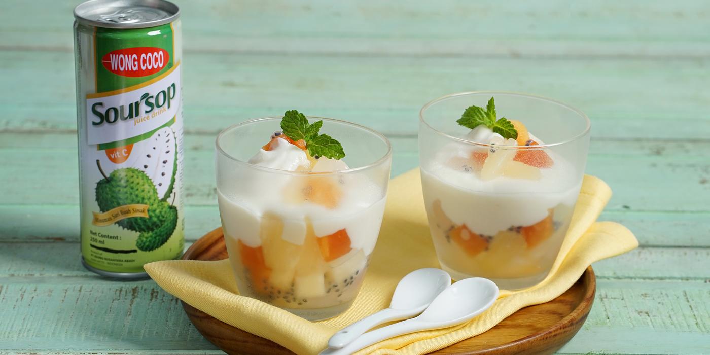 Yogurt Jus Sirsak Wong Coco Coktail Buah
