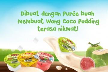 Dibuat dengan Purée buah membuat Wong Coco Pudding terasa nikmat!